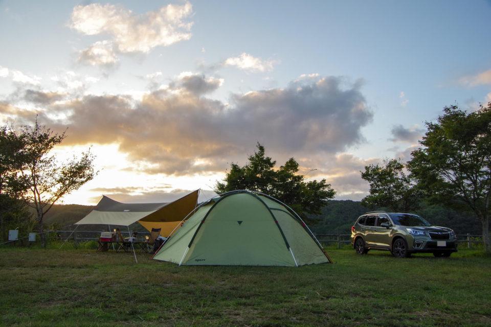 北房もみじ公園キャンプ場でリハビリキャンプ