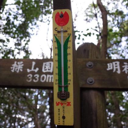 レトロな温度計。すごく寒い日でした。