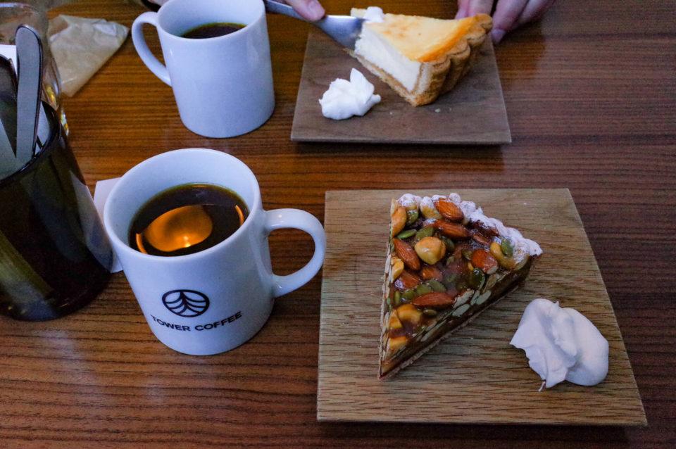 TOWER COFFEE(岡山市北区横井上)でかにわしタルトとフレンチプレス珈琲