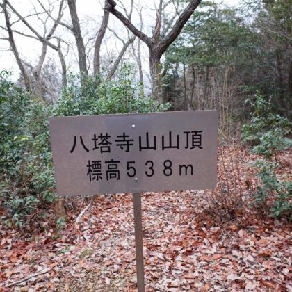 八塔寺山の山頂は眺望なし。