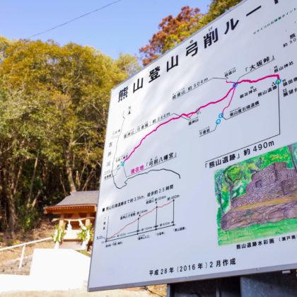 熊山登山弓削ルートを行きます