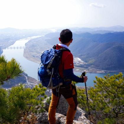 そして龍神山山頂、足がすくみました。