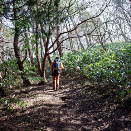 帰りは前山に向かって登るルートへ